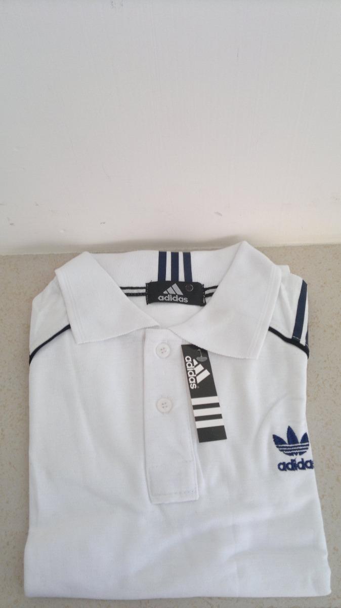 9d99da57a646b Camisa Playera Tipo Polo Marca adidas Color Blanco -   399.00 en ...