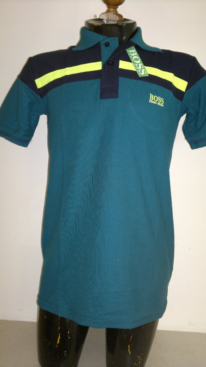 camisa playera tipo polo marca hugo boss azul petroleo negro. Cargando zoom. b0813e2acf9