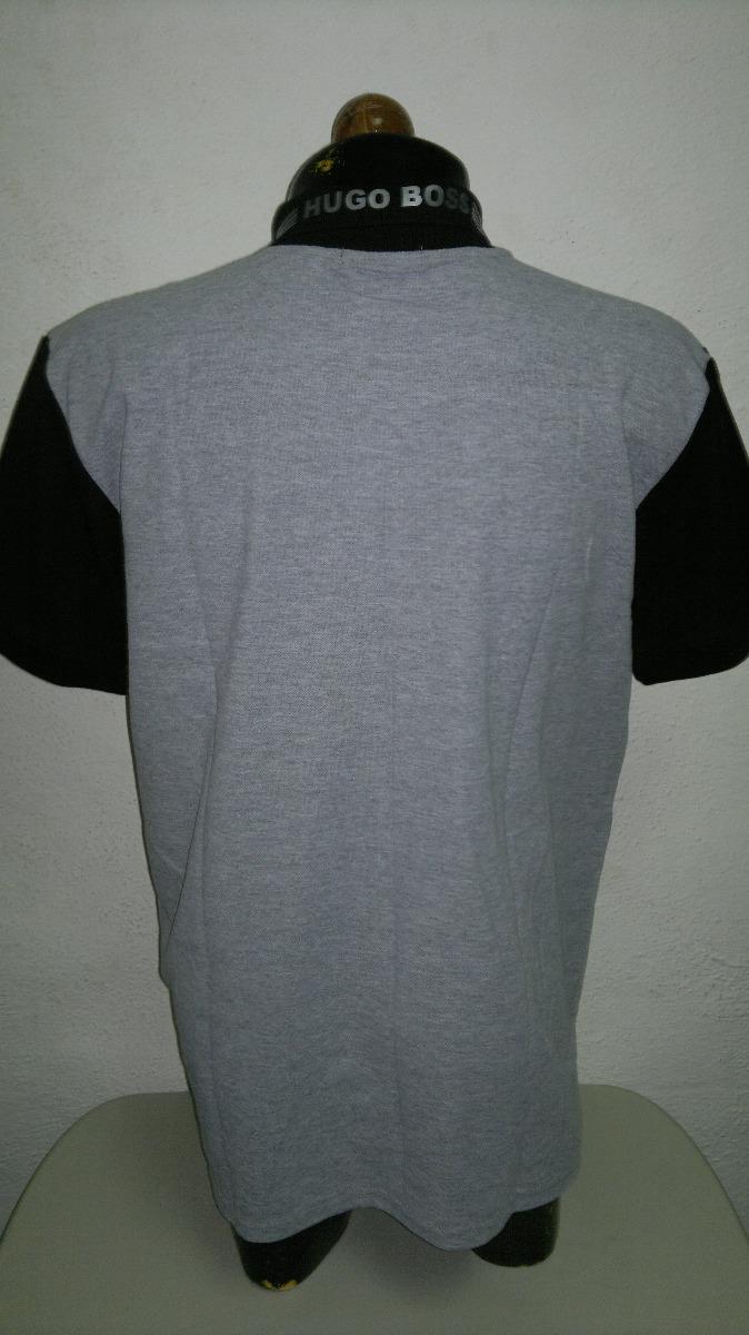 camisa playera tipo polo marca hugo boss gris con negro moda. Cargando zoom. f063bbd4fd0