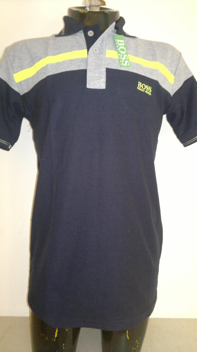 camisa playera tipo polo marca hugo boss negro con gris. Cargando zoom. 5b15fa9f3c1