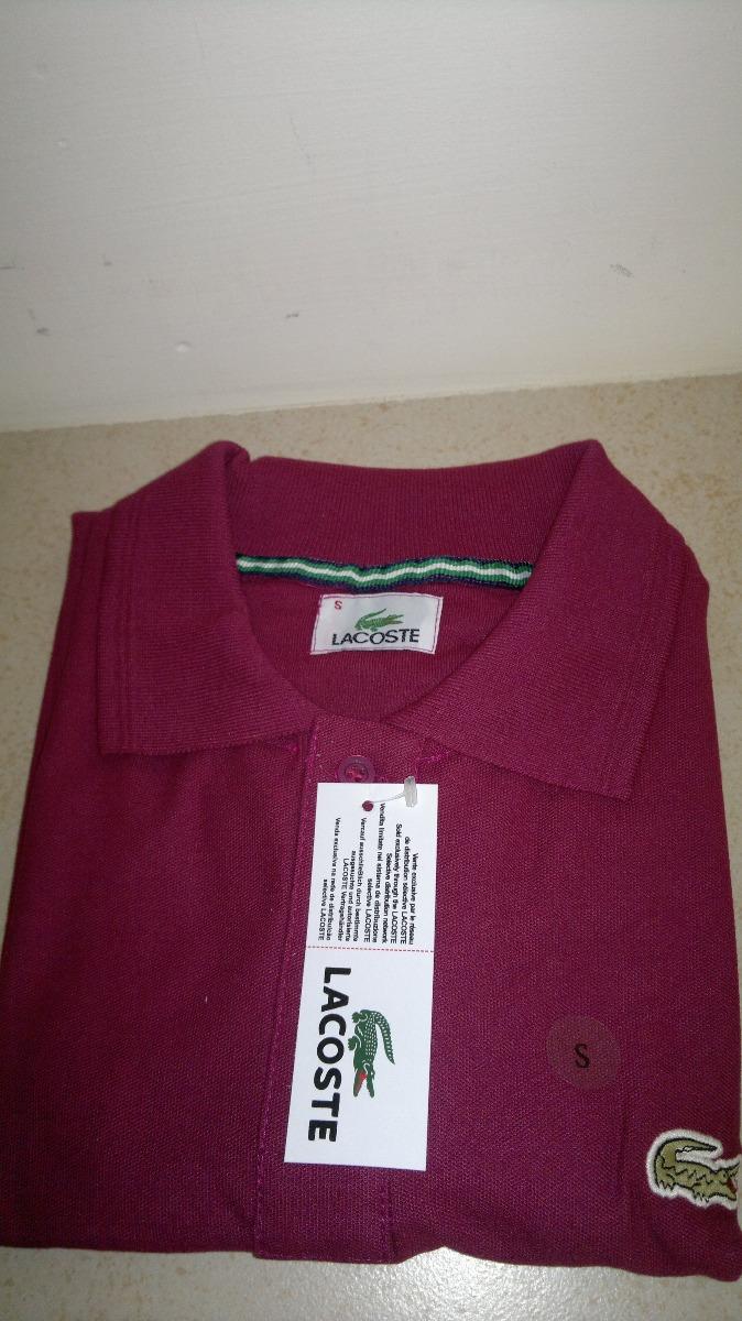 Camisa Playera Tipo Polo Marca Lacoste Color Purpura -   399.00 en ... 78a31be441