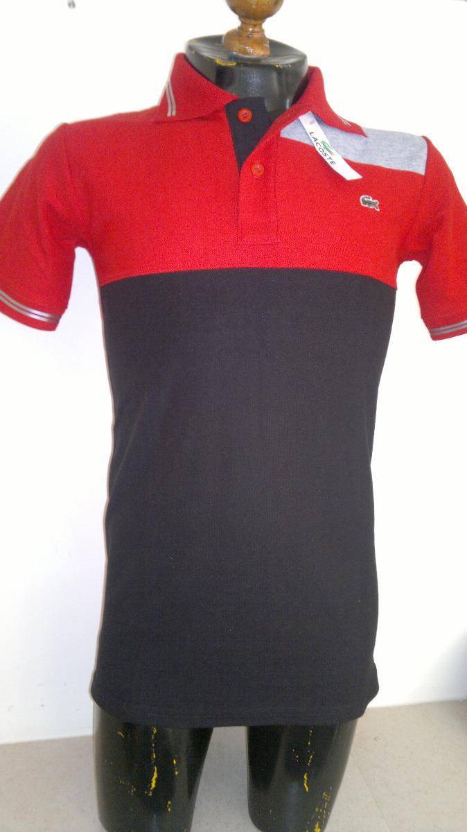 40067ad42350e camisa playera tipo polo marca lacoste color rojo con negro. Cargando zoom.
