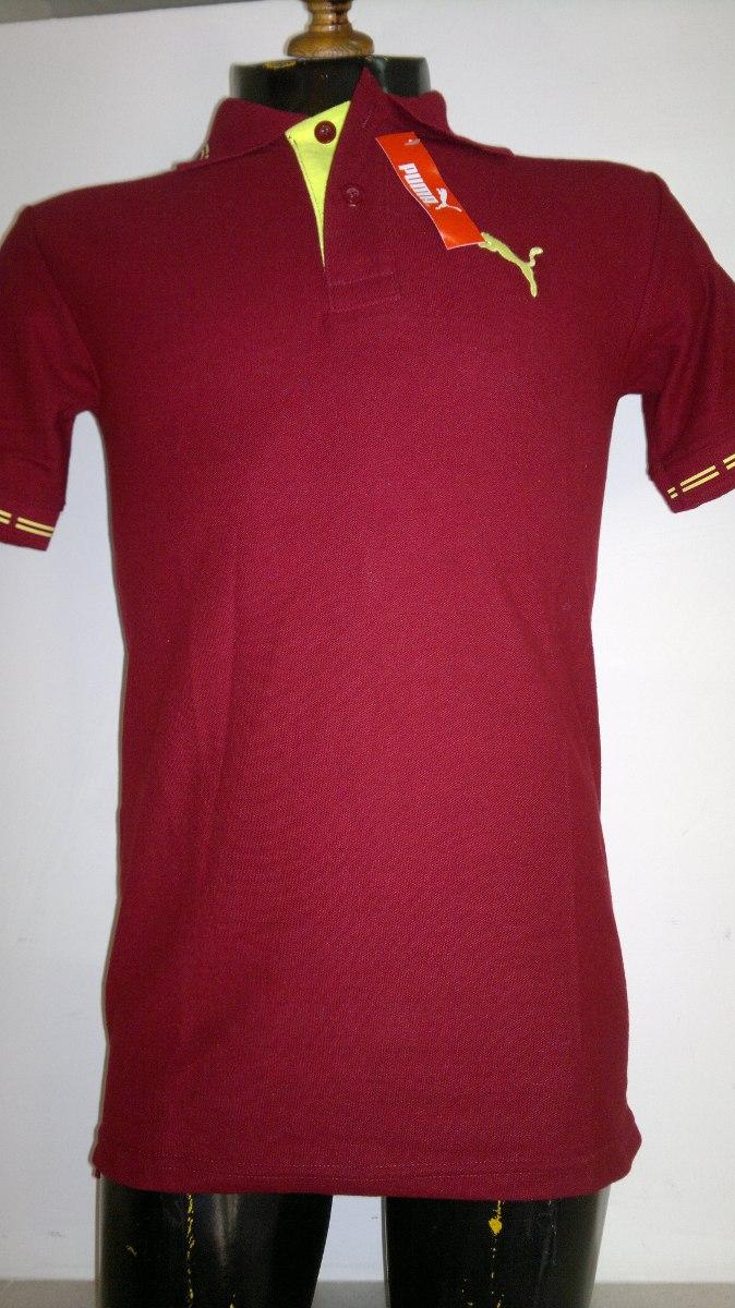 16e0261b3dd0b Camisa Playera Tipo Polo Puma Color Vino Hombre Ropa -   440.00 en ...