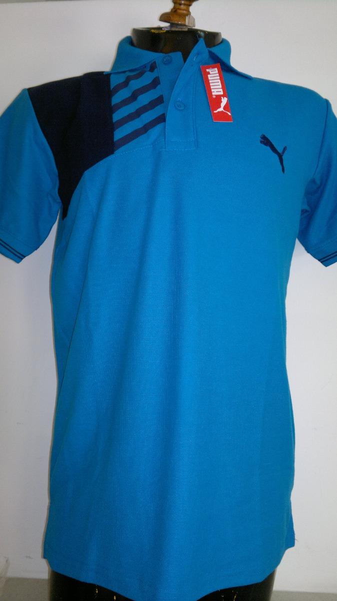 Camisa playera tipo polo puma hombre azul negro moda cargando zoom jpg  674x1200 Camisas tipo polo e98c5b41543