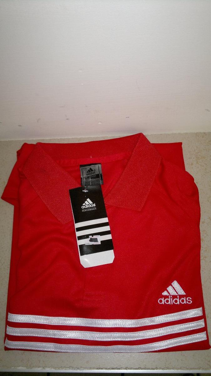 d8317cb417293 camisa playera tipo polo rojo con blanco adidas dry fit. Cargando zoom.