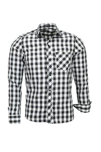 camisa plug manga longa slim - preto - ref 1537