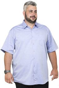 2afa8860a Camisa Social Manga Curta Plus Size - Camisas no Mercado Livre Brasil
