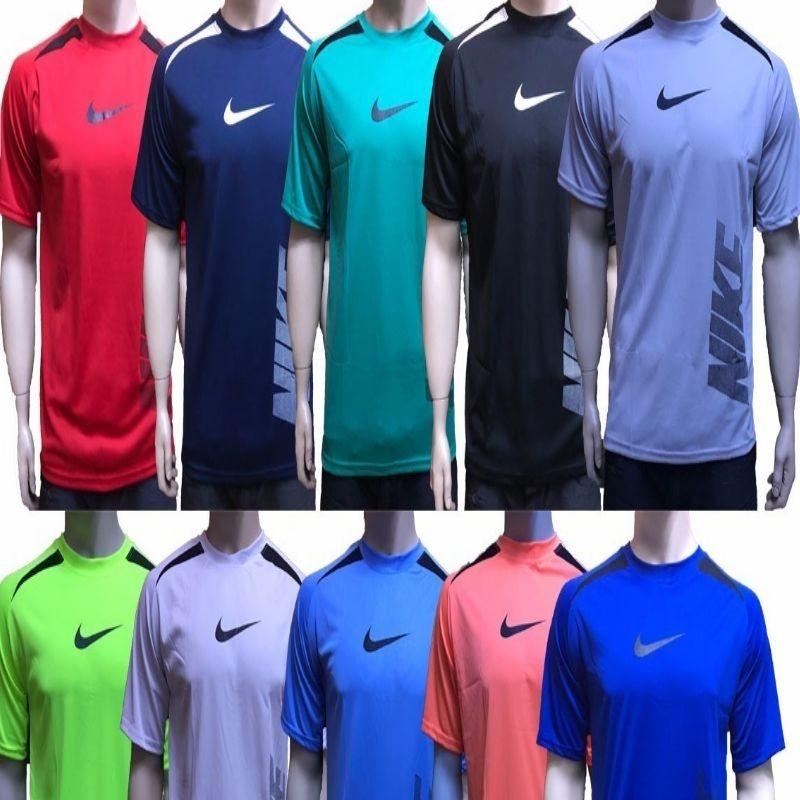 8ba1b012b Camisa Poliéster Academia Dry Fit (kit Com 5) Cores Variadas - R  99 ...