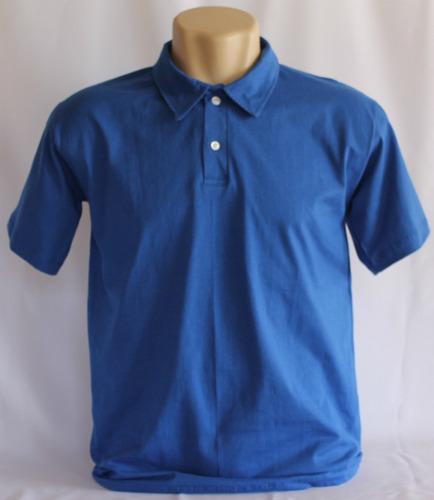 camisa polo 100% algodão malha 30.1