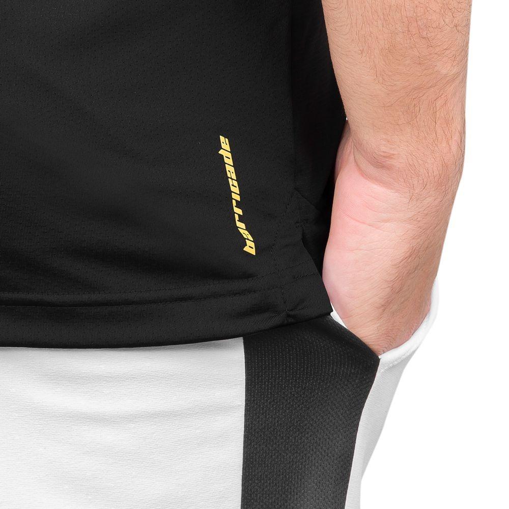989e6aaf2bb96 camisa polo adidas barricade preta e amarela. Carregando zoom.