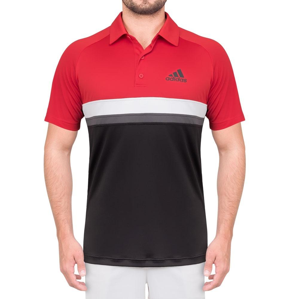 camisa polo adidas club td preta vermelha cinza e branca. Carregando zoom. 4de6dc0d30ea1