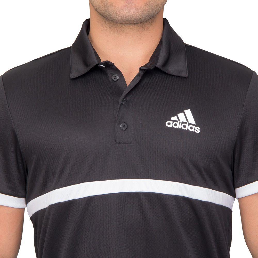 fe909d90ad camisa polo adidas court preta e branca. Carregando zoom.