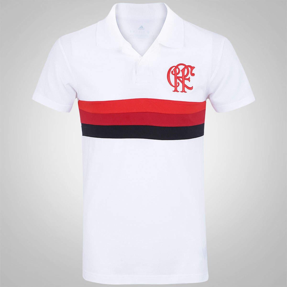 camisa polo adidas flamengo premium original branca. Carregando zoom. 9cf497ae5e516