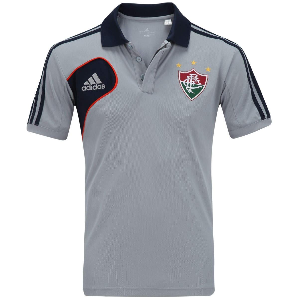 2adf90212bb64 Camisa Polo adidas Fluminense Viagem Original De 199