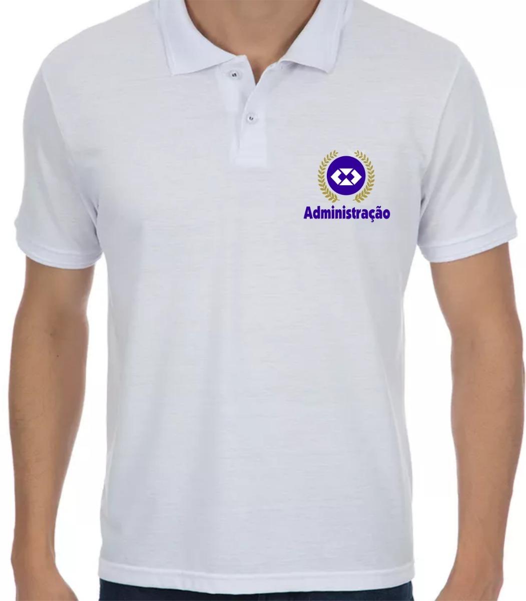 7d6b5a7388 camisa polo administração - logo curso adm. Carregando zoom.