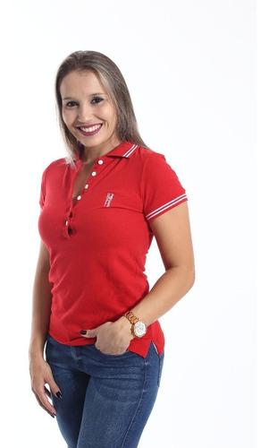 camisa polo adulto feminino