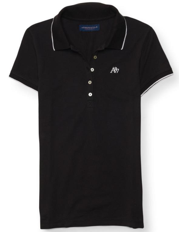 ... Camisa Polo Aeropostale Feminina Importada 100% Original - R 69 f2f04b11c765e