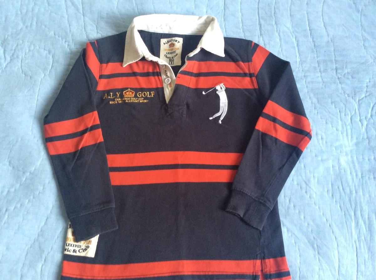 camisa polo aleatory infantil manga longa original tam. 8. Carregando zoom. e292479a10140