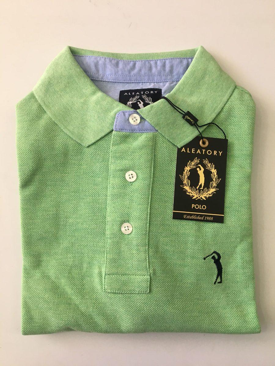 camisa polo aleatory verde piquet original lisa. Carregando zoom. e7adb4110475b
