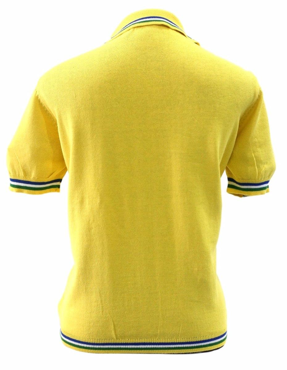 f599a68868 camisa polo amarela brasil feminina malharia romano. Carregando zoom.