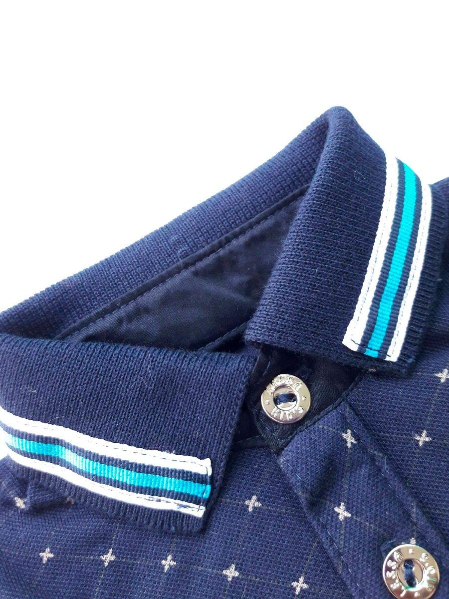 692cbe6d54 camisa polo azul de bebê menino. Carregando zoom.