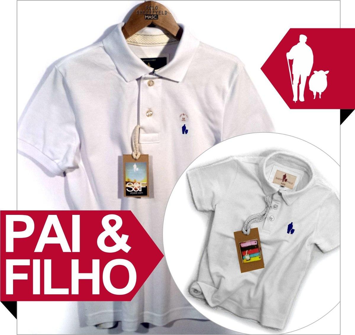 ef4610af73 Camisa Polo Azul Pai E Filho Iguais