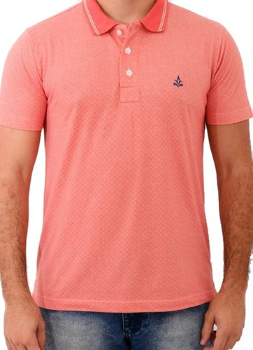 camisa polo barrocco laranja