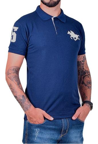 camisa polo básica bordado manga curta  rg518 ref 8994