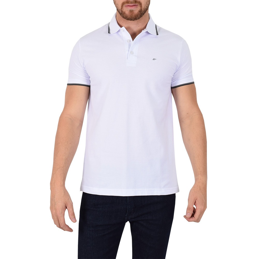 7fa744bbd8d6a camisa polo básica branca - ellus. Carregando zoom.