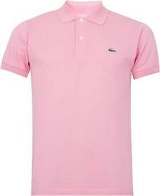 2a1c37d2078 Camisa Polo Blusa Lacoste Rosa Rose Importada Com Etiqueta