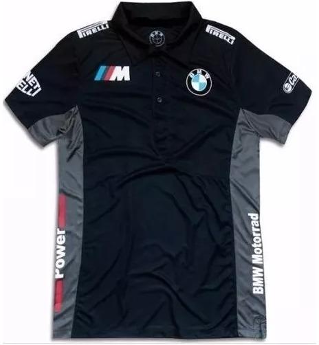 7c4a62643b0df Camisa Polo Bmw F1 Formula 1 Masculina Azul E Preta 2019 - R$ 63,90 ...