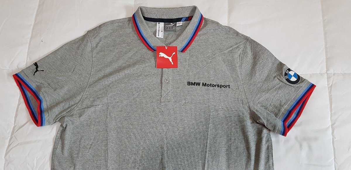 c8ac858e3b3 Camisa Polo Bmw Motorsport Talla Xl Color Gris 100% Original ...