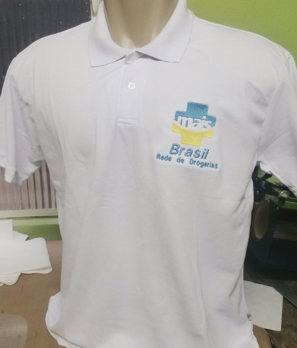 cf59a7b64d Camisa Polo Bordado Dois Lados Da Frente E Costas Seu Logo - R  45 ...