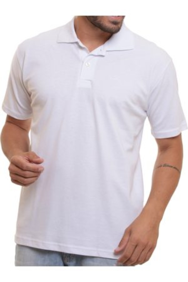 camisa polo branca 100% poliéster sublimação lisa. Carregando zoom. 35baee17823cf
