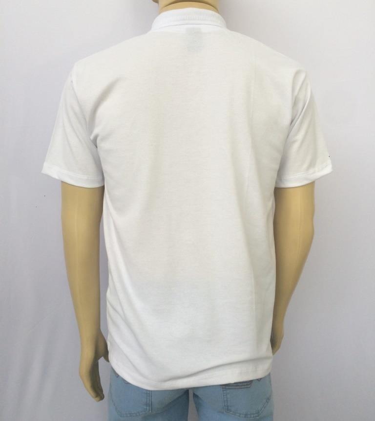 a719584f2bac2 camisa polo branca básica enfermagem uniforme médico restaur. Carregando  zoom.