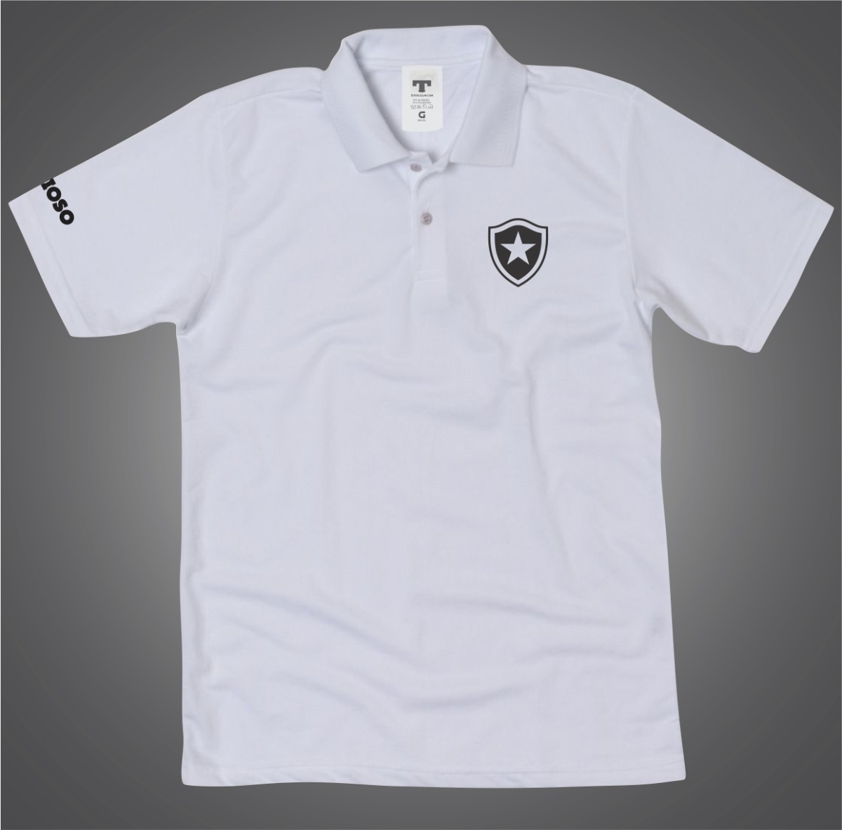 8e90791bc7 Camisa Polo Branca Do Botafogo