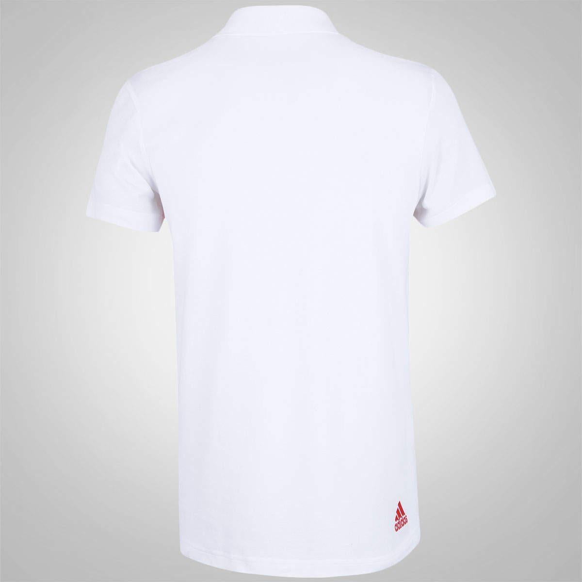 2b6a606242 Camisa Polo Branca Flamengo adidas 2016 - R$ 139,90 em Mercado Livre