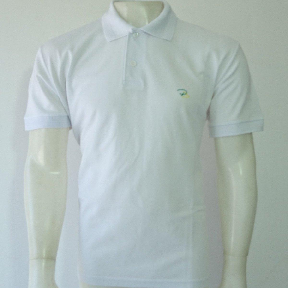 9da97691f Camisa Polo Branca Marca Padrão Brasil P m g gg xxg - R  34