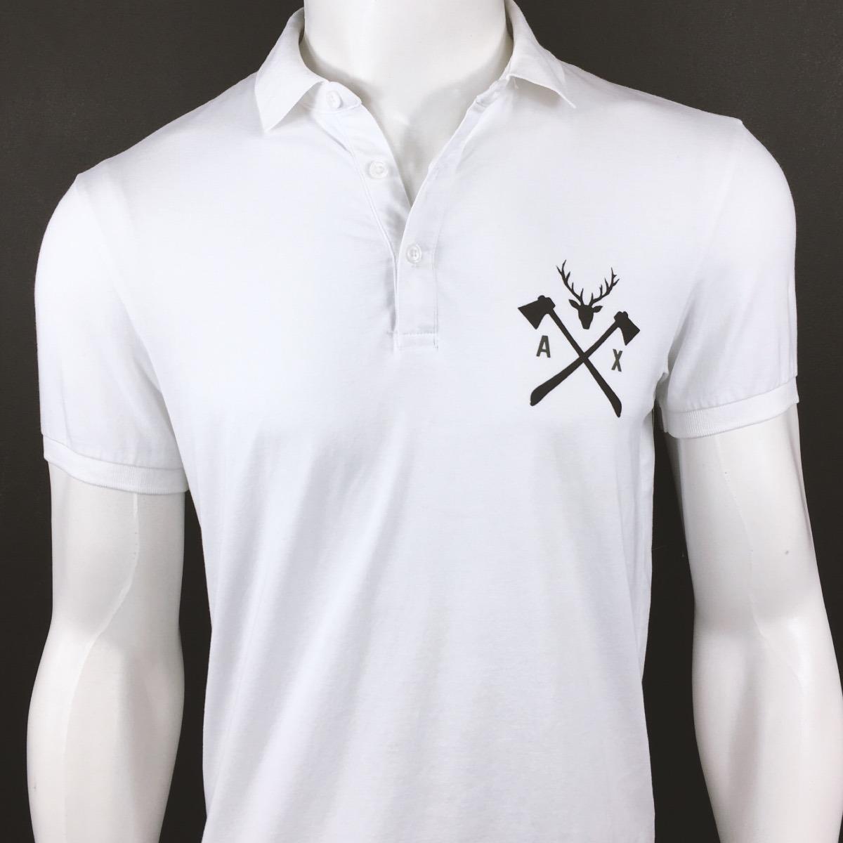 25cf2210a5 camisa polo branca médico armani empório original importada. Carregando zoom .