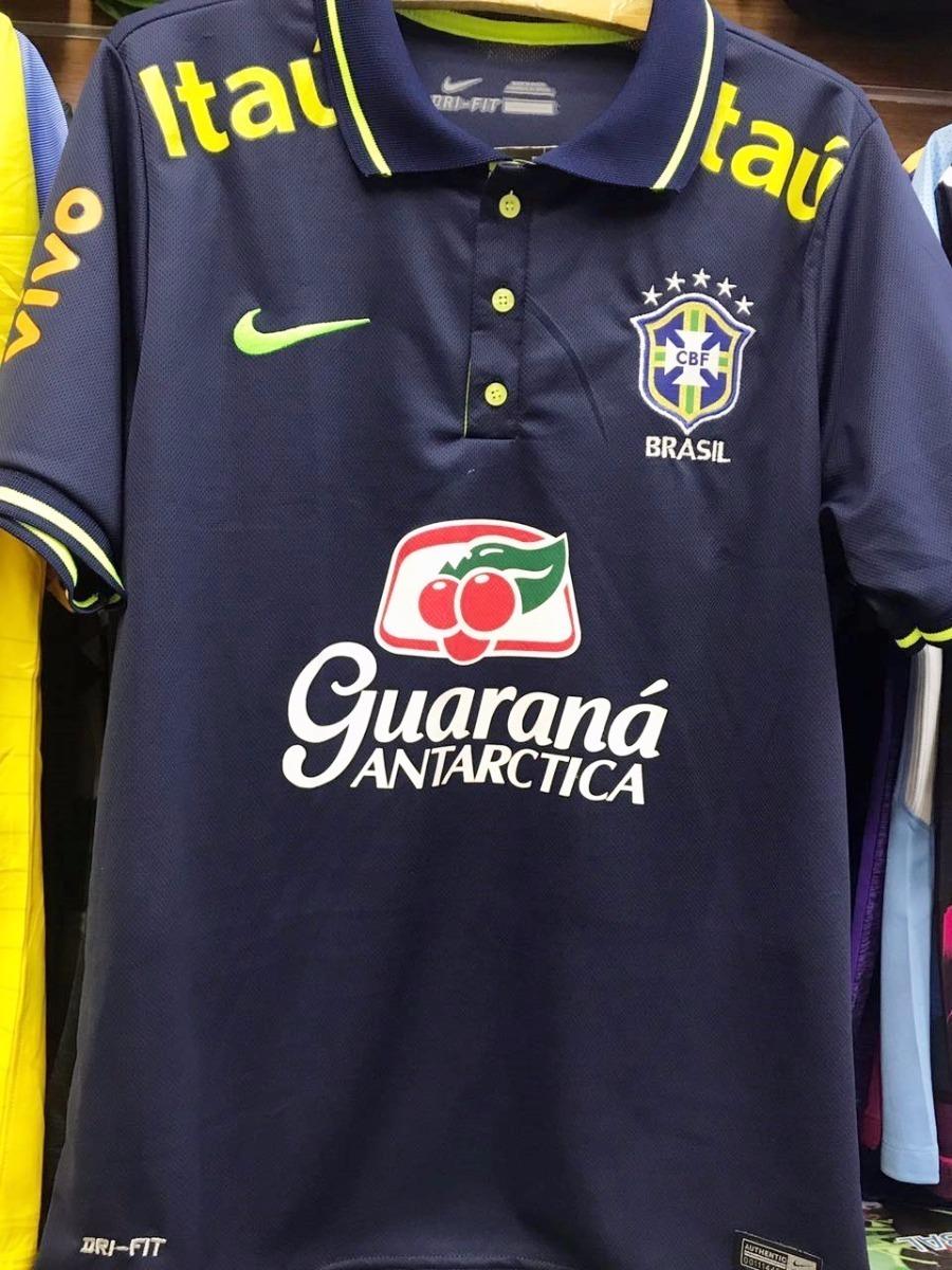 ... 2acf70d8341 Camisa Polo Brasil 2018 Masculina Supporter Torcedor - R  85 d2e1ff455070d