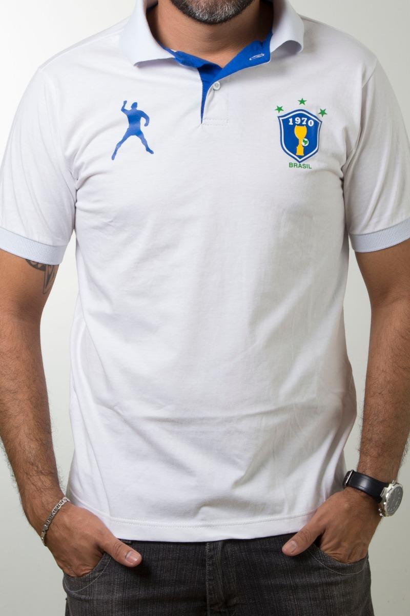 7afa1ec90d camisa polo brasil branca 1970 algodão. Carregando zoom.