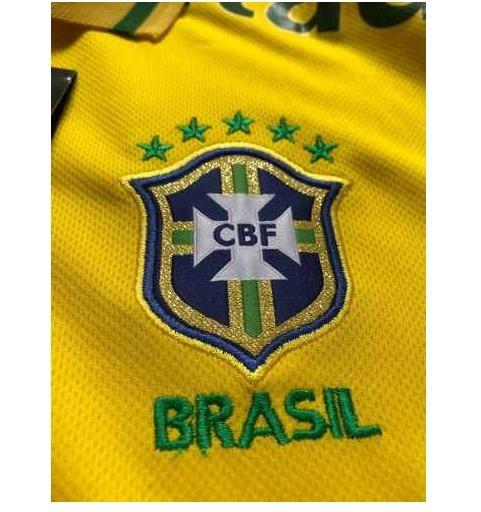 Camisa Polo Brasil Seleção Brasileira Patrocínio Guaraná - R  176 9fc66d6513c21