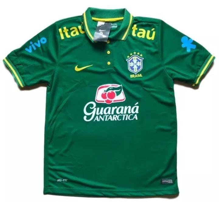 688f1e29a1ce1 Camisa Polo Brasil Verde Treino Copa 2018 - R  120