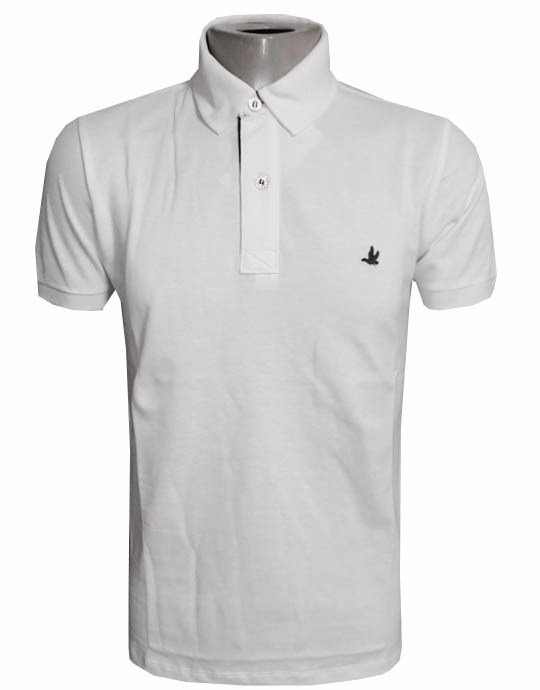 Camisa Polo Brooksfield Branca Masculina Básica - R  88 efc25f4f39fe8