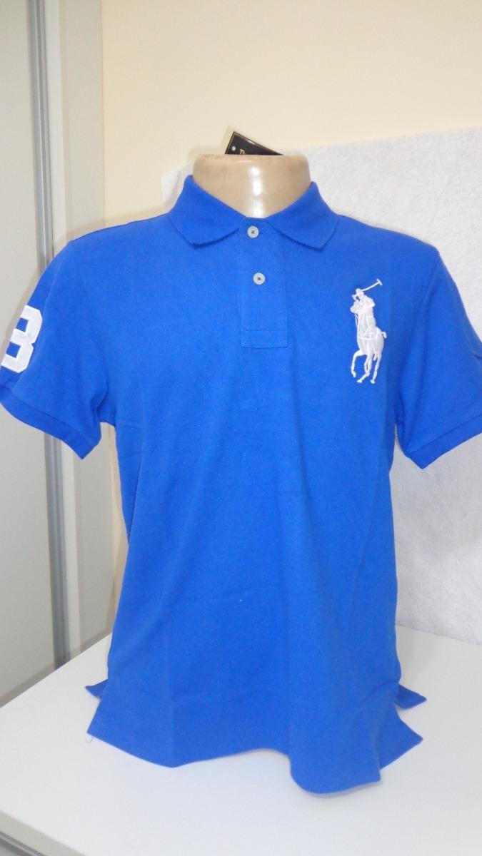 camisa polo by ralph lauren azul claro tam gg g- p. Carregando zoom. ffa49420b19