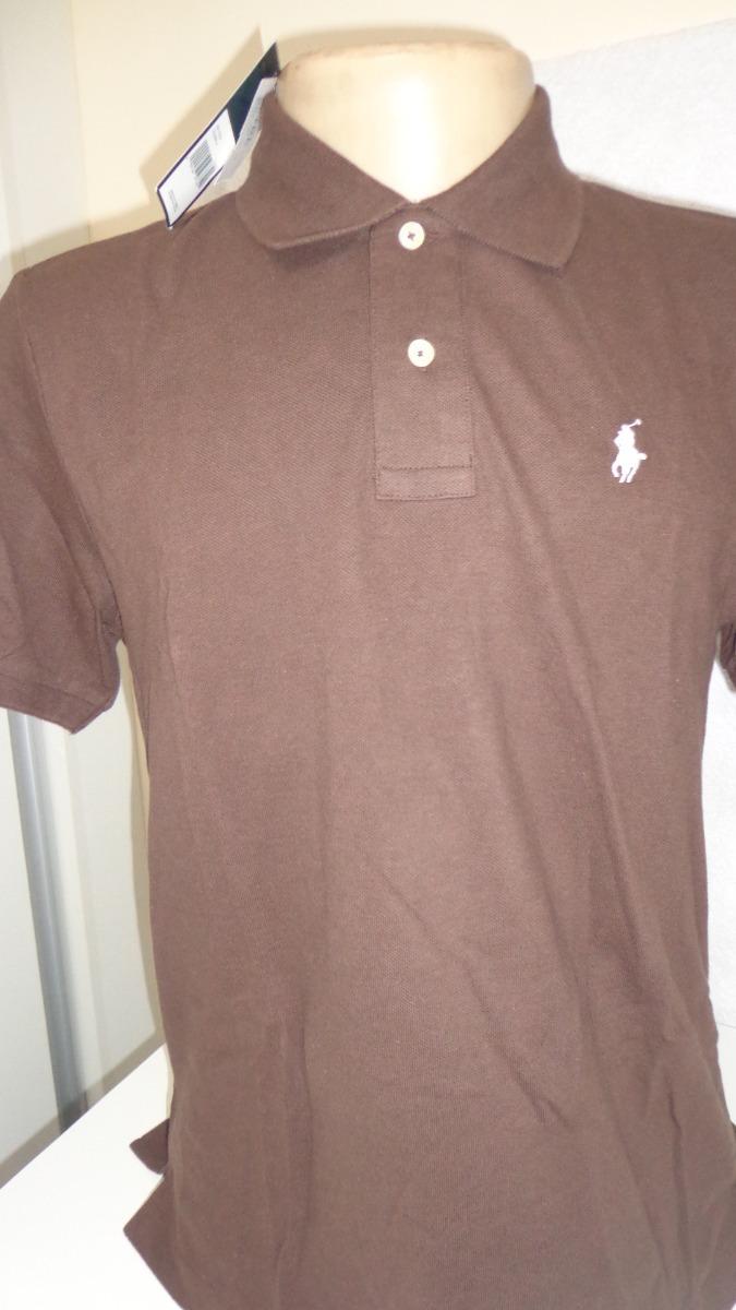 camisa polo by ralph lauren marrom cavalo pequeno tam p-. Carregando zoom. 1a54a1fe18e