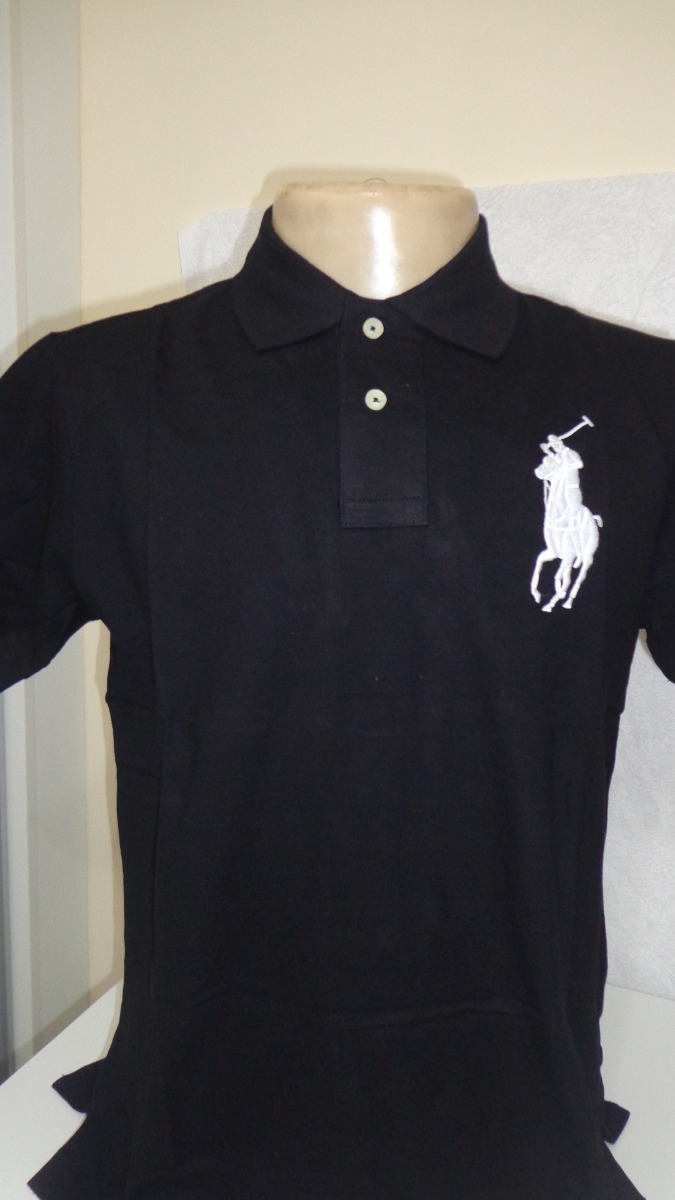 camisa polo by ralph lauren preto tam gg-p. Carregando zoom. 96808221005