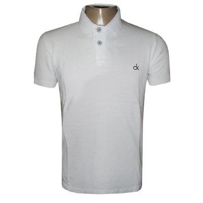 cca5b4cc8 camisa polo calvin klein camiseta ck azul. 6 Fotos