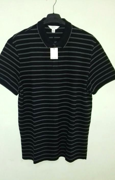 15d30998da Camisa Polo Calvin Klein Masculina Tm G Em Listras - R  250
