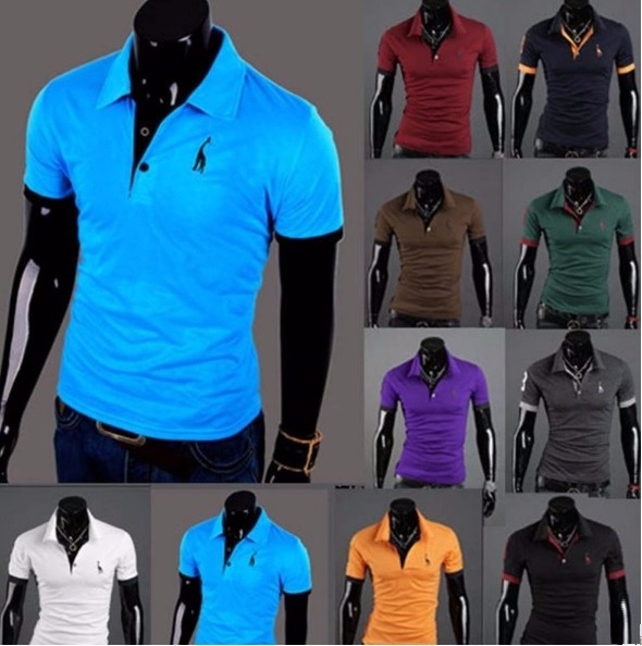 4f0be2995 Camisa Polo Casual Moda Masculina Slim Fit Manga Curta - R  25